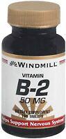 Windmill Vitamin B-2 50 Mg Tablets 100 Tablets (pack Of 3) on sale