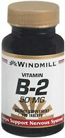 Windmill Vitamin B-2 50 Mg Tablets 100 Tablets (pack Of 3) on sale
