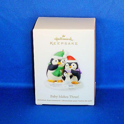 Hallmark - 2012 Baby Makes Three! Penguins - Keepsake Christmas Ornament - NEW