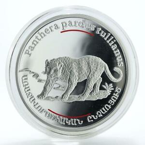 Armenia-100-dram-Red-Book-of-Armenia-Anatolian-leopard-silver-coin-2007