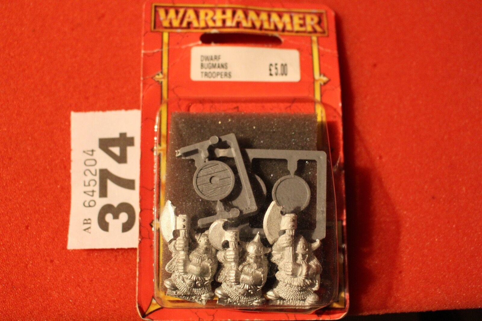 Games Workshop Warhammer Dwarf Dwarves Bugmans Brewers Troopers 3 Metal BNIB New
