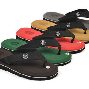 Summer-Leisure-Men-039-s-Flip-Flops-Beach-Slippers-Shoes-Cosy-Massage-Thong-Sandals