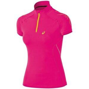 da da uomo manica Womens zip Nuovo Camicia con corta Magenta Speed Asics a zip running Im Xs SdqcBwC