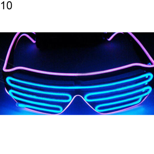 AC/_ EG/_ LED LIGHT-UP EYE GLASSES DOUBLE COLOR EL FLASHING HALLOWEEN BAR EYEWEAR