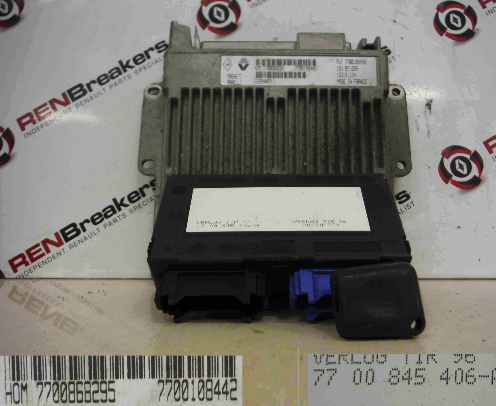 Key Fob Renault Clio MK2 2001-2006 1.2 8v ECU SET UCH BCM Immobiliser