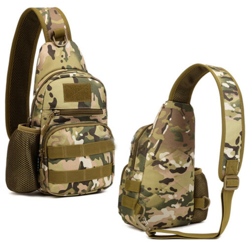 Men/'s Tactical Pouch Handbag Canvas Shoulder Chest Bag Military Sling Hiking