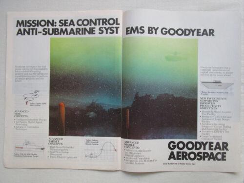 6//1982 PUB GOODYEAR AEROSPACE ASW ANTI-SUBMARINE SYSTEMS ACOUSTIC SONAR NAVY AD