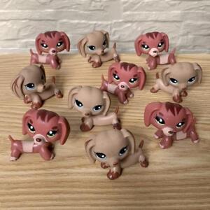 Promotion-Lot-10pcs-LITTLEST-PET-SHOP-PUPPY-DOG-DACHSHUND-CLEAR-Kids-Toys