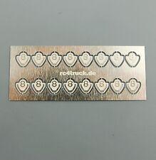Para Tamiya scania v8 logotipo emblema badges Klein 5x5mm 1:14/16 pieza patrón