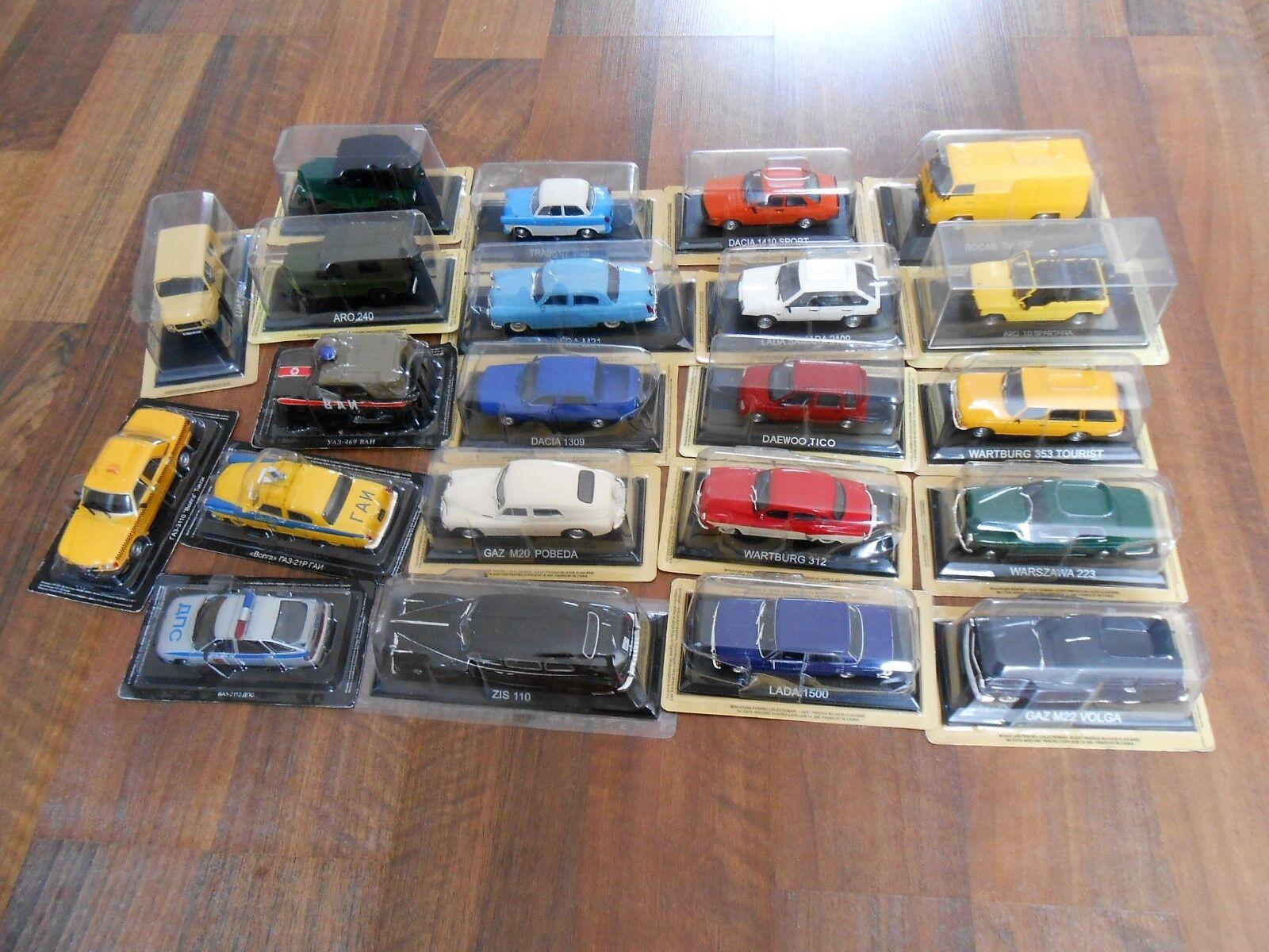 Lot 22 voitures  metal 1 43 1 43 lada gaz aro Dacia Daewoo model voiture settleHommest  livraison directe et rapide