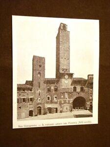 Rarissima-veduta-di-San-Gimignano-nel-1899-Palazzo-antico-del-Podesta-Siena
