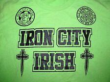 IRON CITY IRISH FOOTBALL (Soccer) Club #22 PITTSBURGH PA Lime Green t-shirt sz.S