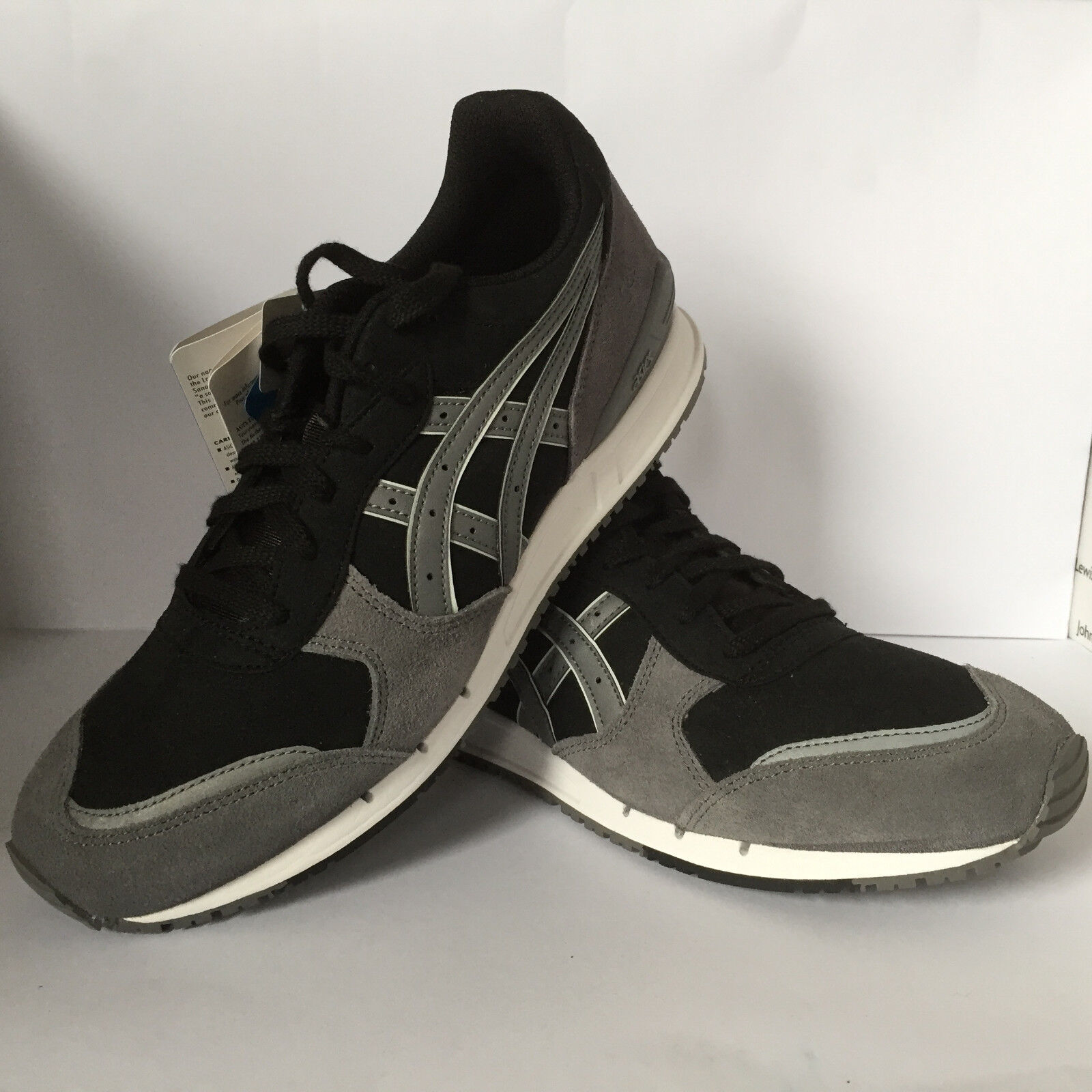 Asics Gel Classic Mens Classic Runner Black Grey New £49.99