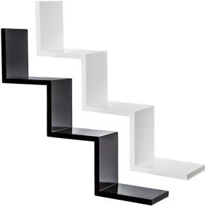 Zig-Zag-Estanteria-foltante-de-pared-muro-forma-estante-retro-librero-CD