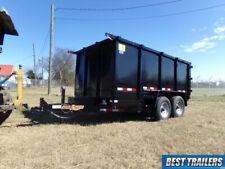 2021 6 X 12 High Side Dump Trailer 48in 4ft W Equipment Bobcat Ramps 10k Gvwr
