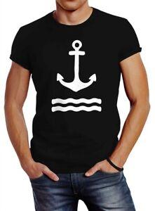 Anker-Herren-T-Shirt-Wasserwelle-Slim-Fit-Neverless