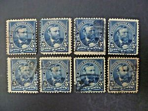 USA Lot of 8 1898 $.05 Grant #281 Used Regular Issue - See Description & Images