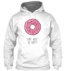 Details About Zonuts Don T Worry Be Happy Zoe Laverne Gildan Hoodie Sweatshirt