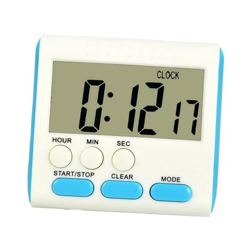 Digital Kitchen Timer Easy To Read Loud Beep Blue Magnetic Free Stand