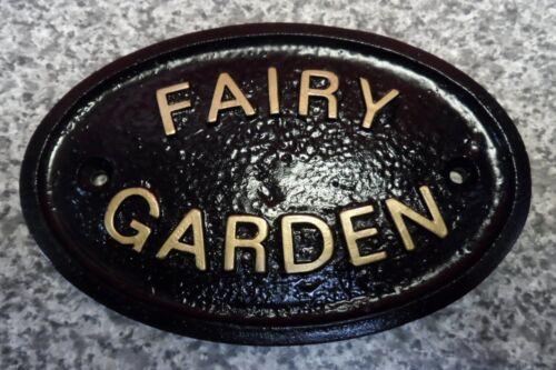 FAIRY GARDEN HOUSE DOOR PLAQUE SIGN GATE WALL NEW