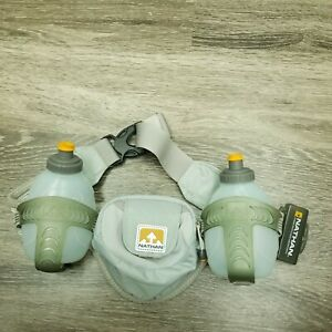 Nathan-Running-Hydration-Belt-Two-10-Oz-Bottles-Orange-and-Grey