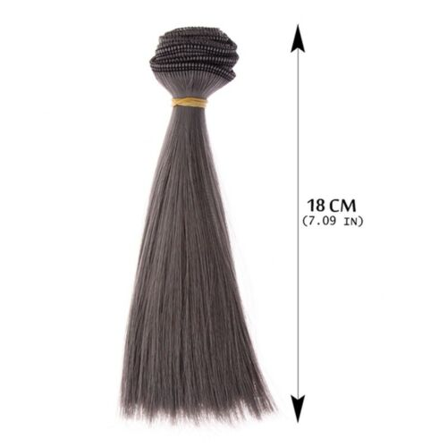 15cm Length HighTemperature Material Natrual Color Thick Wigs Doll Hair UK STOCK