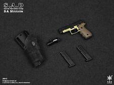 Easy & Simple 1/6 Action Figure 26012 CIA SAD P220 Pistol & G-Code Holster Set
