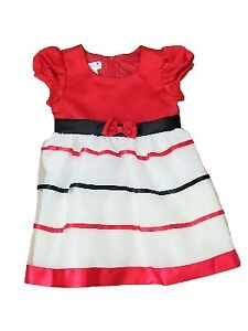 2ddfbe548be Image is loading Infant-Toddler-Girls-Black-Red-Stripe-Christmas-Holiday-