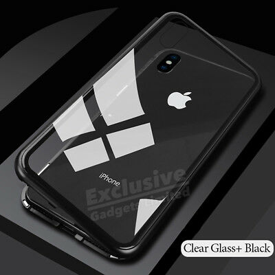 Luxury Magnet Shockproof Tempered Glass Case Cover for iPhone XS 8 7 6S Plus