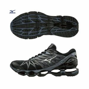 newest collection ed61c 73eb9 Image is loading Mizuno-Wave-Prophecy-7-Black-Gray-Men-Mens-