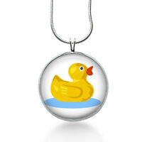 Duck Jewelry, Duck In Water Pendant, Rubber Duck Necklace, Pendant Jewelry