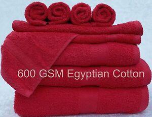 Red-LUXOR-600gsm-100-coton-doux-egyptien-choix-de-3-Serviette-de-taille-fixe-BALE
