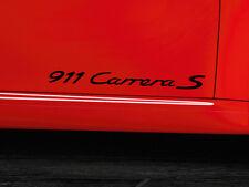 Black Porsche 911 Carrera S Emblems Pair.Genuine OEM Adhesive Stickers.