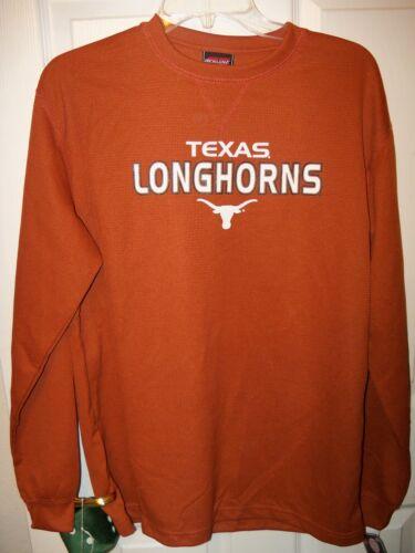 20 NWT Texas Longhorns Football Long Sleeve Thermal Shirt Boys Youth Size 18