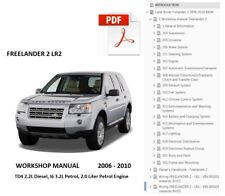 Land Rover FREELANDER 2 Lr2 Service Repair Manual Workshop