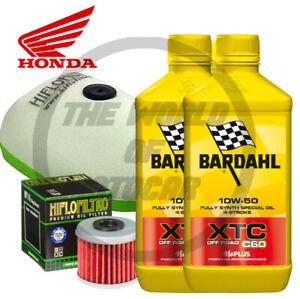 Kit/tagliando Honda CRF/450 R/RX Bardahl XTC C60 10W50 Off-Road filtro olio aria