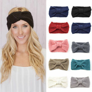 5c2bbd40d Details about For Women's Crochet Headband Knit Bowknot Hairband Ear Warmer  Winter Headwrap