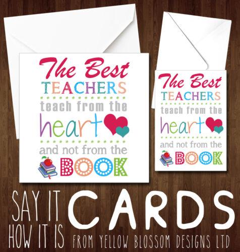 Mejor maestra Gracias tarjeta de la señora MS Miss Enseñanza Asistente Guardería Cuidadora