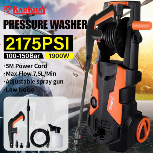 2175PSI//150 BAR Power Electric High Pressure Washer Jet Water Patio Car Cleaner