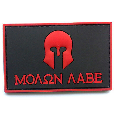 MOLON LABE SPARTAN TYRANNY LIBERTY 2RD AMENTMENT MILITIA MORALE HOOK PATCH
