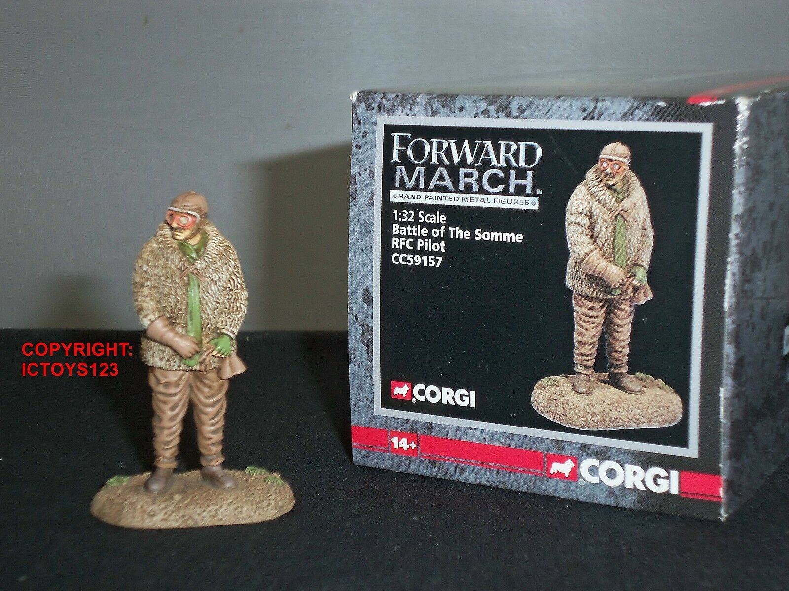 CORGI CC59157 FORWARD MARCH RFC PILOT BATTLE OF THE SOMME METAL TOY SOLDIER