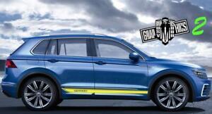 VW-Tiguan-2006-2020-Auto-Seitenstreifen-Aufkleber-Grafik-Racing-Line-Aufkleber