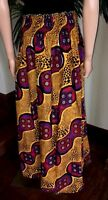 Lady Mia's Of Africa Women's African Skirt Wax Cotton Yellow Long