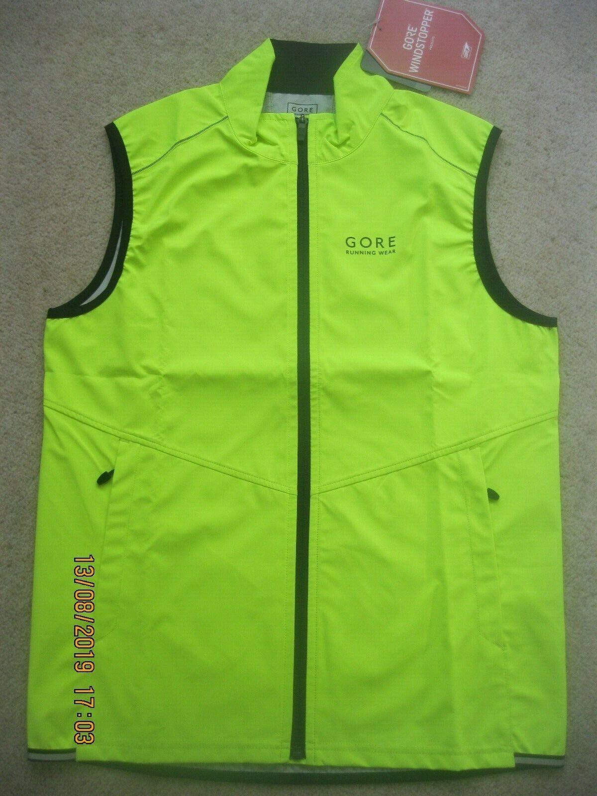 Gore Wear Mens Windstopper Running Vest in various Größes - Originally