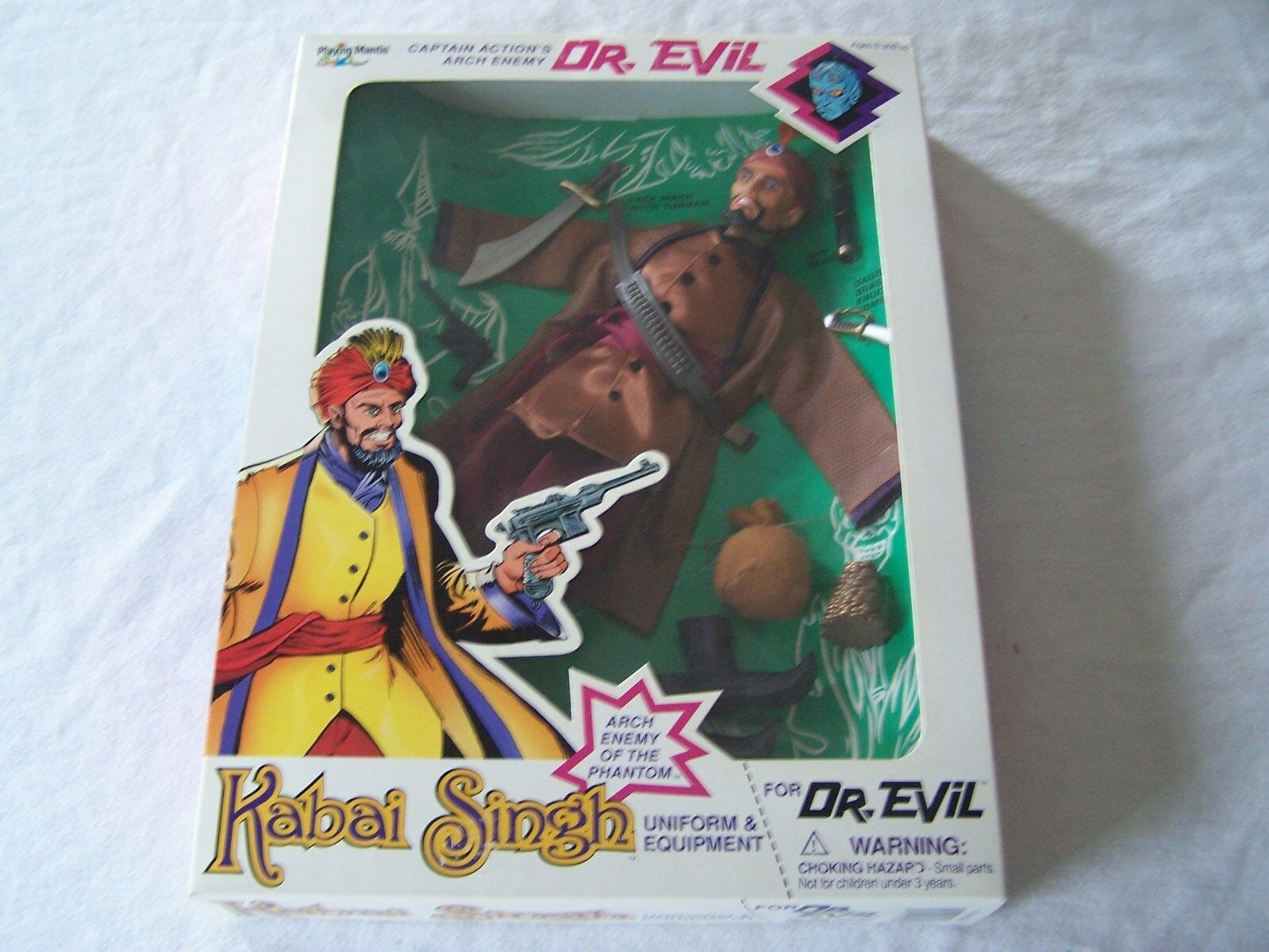 CAPTAiN ACTiON as Kabai Singh for DR. EViL figure UNIFORM & EQUIPMENT set MIB