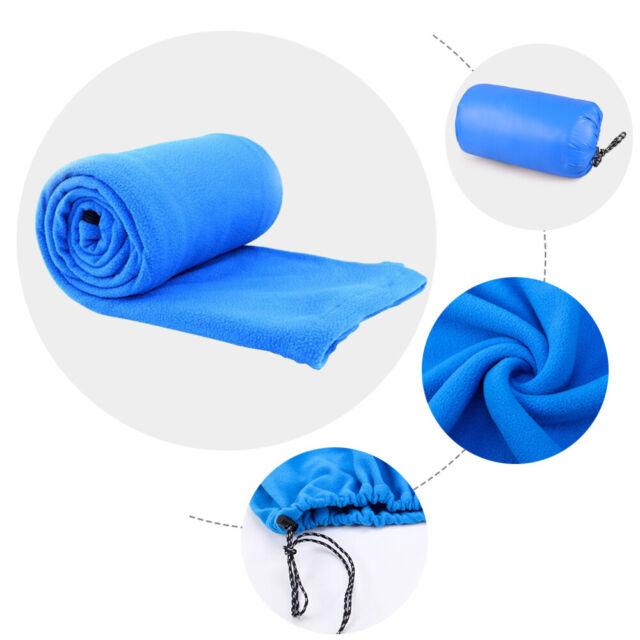 HGY Outdoor Camping Hiking Envelope Portable Polar Fleece Anti-pilling Sleeping Bag