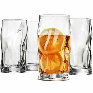 SORGENTE-Tall-Drinking-Glasses-15-5-Ounce-Highball-Glass-Set-of-4-Glass-Cups