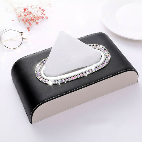 Bling Bling Car Home Office Use Tissue Box High Class Crystals Towel Paper Cover