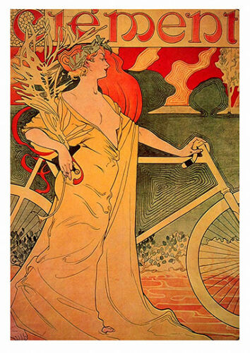 Vintage Cycling advertising poster reproduction. Clement