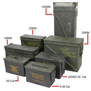 Original-US-Army-Ammo-Cans-Tin-Box-Surplus-30-50-cal-Army-Military-Ammunition
